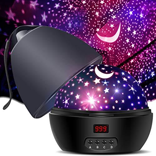 MOKOQI Star Projector Night Light for Kids Adults, MOKOQI Star Night Lights Romantic Rotati…