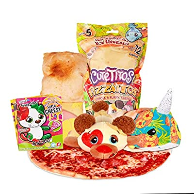 Cuteitos 39139 Cutetitos Pizzaitos-Surprise Stuffed Animals-Collectible Pizza Plush-Series 5 from Basic Fun