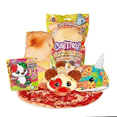 Cuteitos 39139 Cutetitos Pizzaitos-Surprise Stuffed Animals-Collectible Pizza Plush-Series 5 from Basic Fun