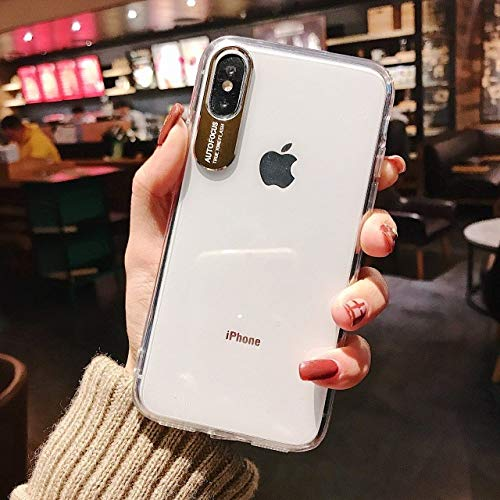 JINYIWEN Telefoon Case Business Transparant Telefoon Case Voor iPhone X XR XS MAX Metalen Camera Hard PC Case Voor iPhone 7 6 S 8 Plus Clear Back Cover-Voor iPhone XR-King