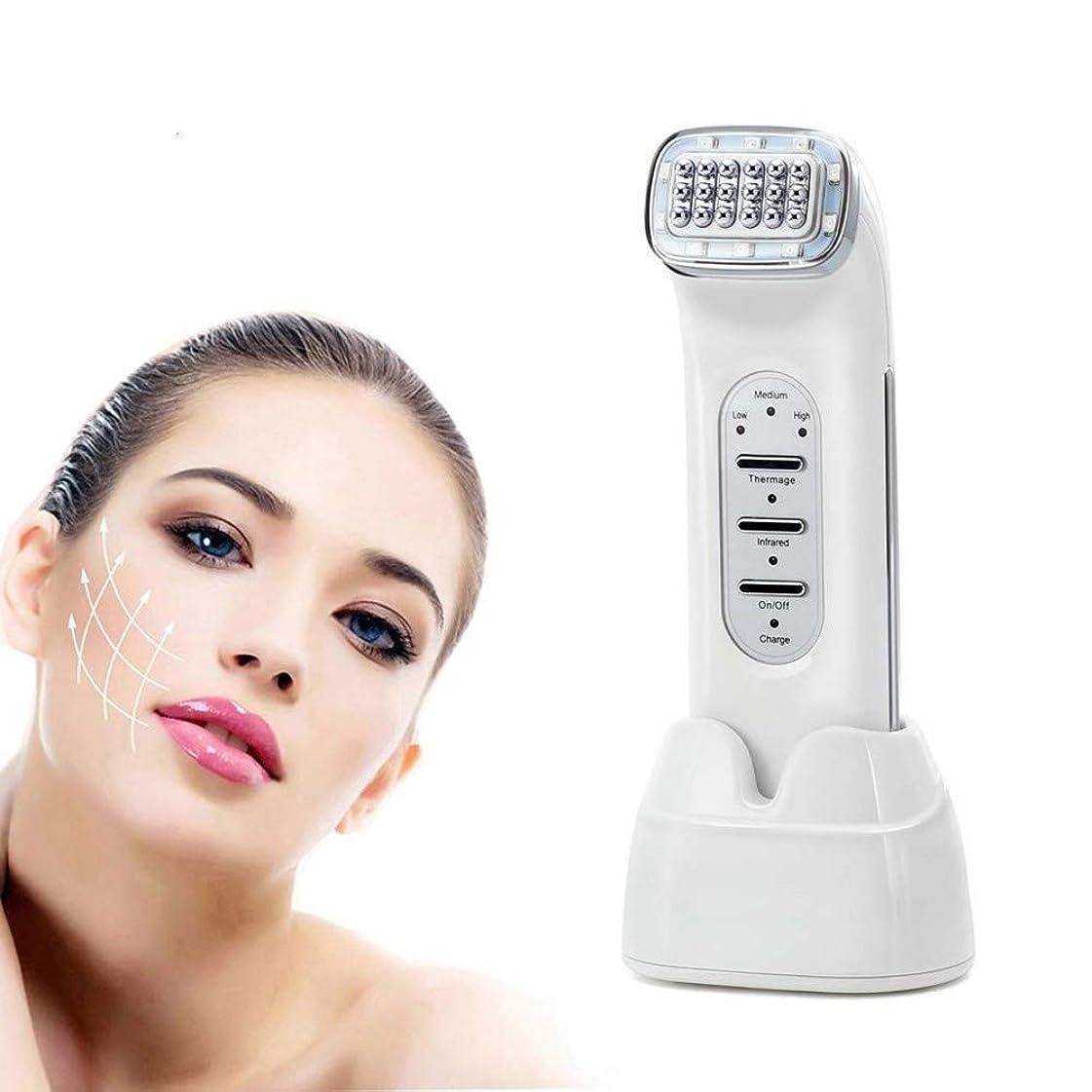 スチュワード公然と未知のスキンケア?フェイシャルクリーナー用機器、美容機器、RF美容機器のEMS振動RF美容DeviceDotマトリックス肌の若返りのためにひげアンチエイジング美容インストゥルメントを調色LED
