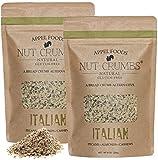 Appel Foods - Nut Crumbs - Bread Crumb Alternative - Gluten Free - Sugar Free - Low Carb - Low Sodium - Raw, Premium Nuts - Italian 2pk