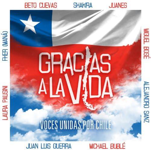 Beto Cuevas, Juanes, Alejandro Sanz, Juan Luis Guerra, Laura Pausini, Shakira, Fher de Maná, Miguel Bose & Michael Bublé