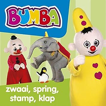 Zwaai, spring, stamp, klap