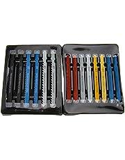 Hojas de sierra de calar con vástago en T, 14 piezas, surtido de cuchillas de corte para madera, metal, acero, panel de plástico