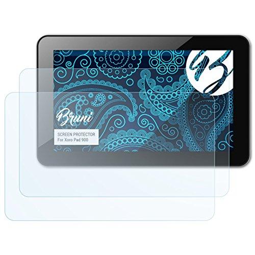 Bruni Schutzfolie kompatibel mit Xoro Pad 900 Folie, glasklare Bildschirmschutzfolie (2X)