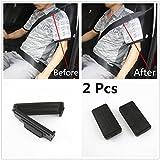 JDopption 2 Pcs Black Smart Seatbelt Adjuster Clip Buckle Shoulder Relax Neck Comfort Supports Seat Belt Clip Cover