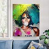 ganlanshu Pintura sin Marco póster de Mujer Africana y Arte de Pared de Grabado Arte Moderno póster Mujer decoración del hogarZGQ4940 50X70cm