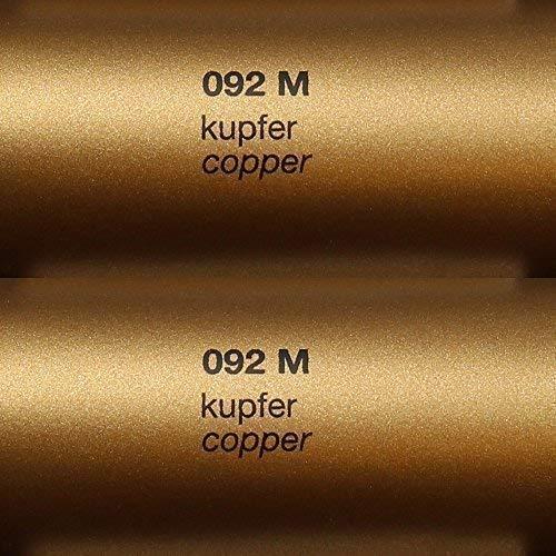 6,03€/m² Rapid Teck® Matt Folie - 092 Kupfer - Klebefolie - 5m x 63cm - Folie Matt Plotterfolie - Klebefolie selbstklebend - auch als Moebelfolie -Dekofolie