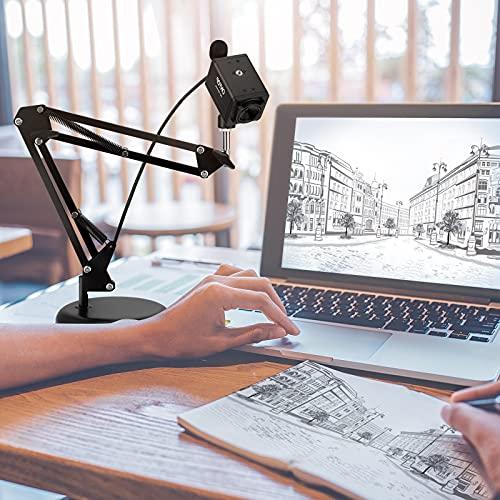MATHOWAL Fotocamera per documenti, USB A3 Scanner per Documenti Portatilead alta definizione per Mac Windows, Chromebook, Zoom, Microsoft Teams, OBS per l apprendimento remoto