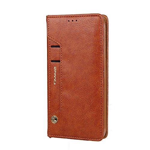Schützen Sie Hüllen für Samsung Galaxy S8 Handy, Fall Damen PU Leder Flip Handtasche elegante stilvolle Handy-Schutzhülle mit Kartenhalter Geld Brieftasche Case Cover für Samsung S8-Brown