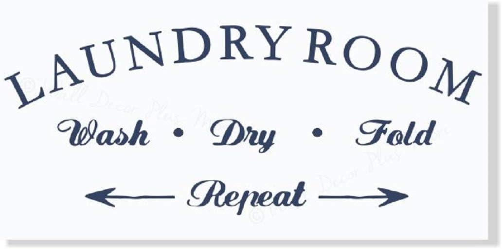 Laundry Room Sign Laundry Room D\u00e9cor Sign for Standard or Farmhouse style D\u00e9cor. Dry \u2013 Fold \u2013 Repeat\u201d Framed 12x24 Canvas Sign \u201cWash