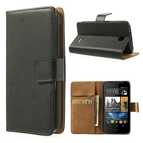Xaiox® HTC Desire 310 Bookstyle Tasche in schwarz