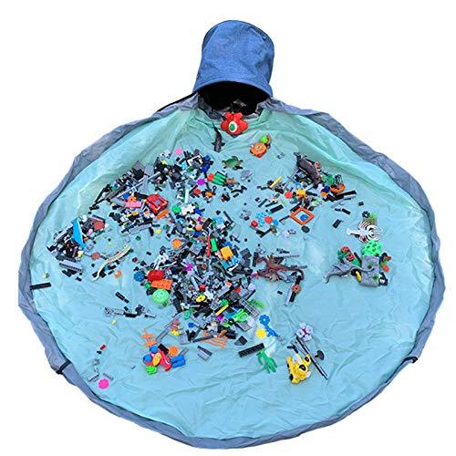 Opbergzak Voor Speelgoed, Opbergzak Voor Speelgoed Speelkleed, Emmerzak Voor Speelgoedopslag, Opruim- En Opslagcontainer Voor Speelgoed, Opbergmand En Speelmat,Blue