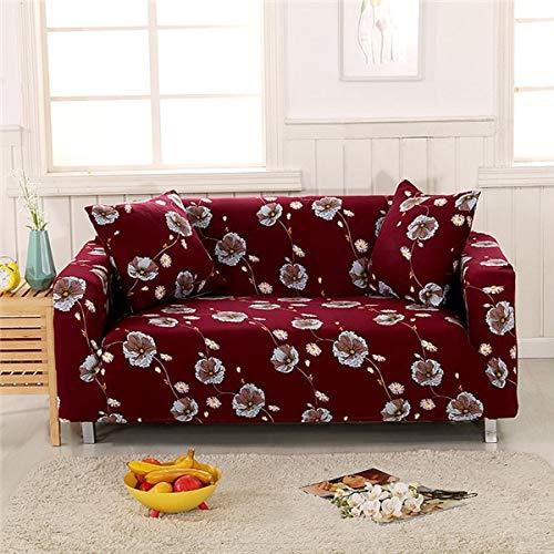 ASCV Funda de sofá elástica Moderna para Sala de Estar Fundas de sofá Envoltura Ajustada Funda de sofá Todo Incluido Protector de Muebles A4 3 plazas