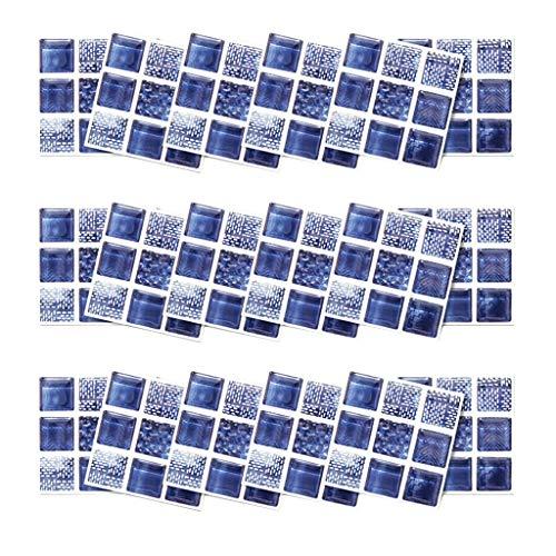 UKtrade Thuis Renovatie DIY Meisjes Kamer Muursticker Kristal Blauw Mozaïek Stickers Tegel Spiegel Zelfklevende Kamer Badkamer Home Decor Appartement Dorm 18 STKS 10×10cm