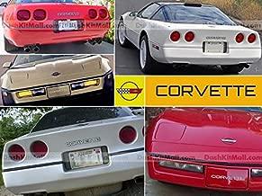 SF Sales USA - Chrome Front & Rear Bumper Letters fit Corvette C4 1984-1990 Plastic Inserts Not Decals