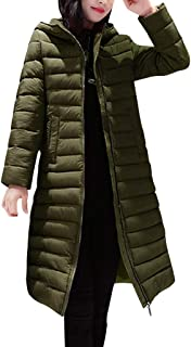 WUAI-Women Packable Down Coat Winter Warm Light Weight Puffer Down Parka Jacket with Hood