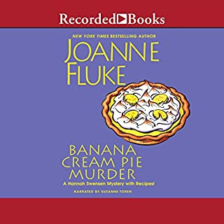 Banana Cream Pie Murder                   By:                                                                                                                                 Joanne Fluke                               Narrated by:                                                                                                                                 Suzanne Toren                      Length: 10 hrs and 19 mins     403 ratings     Overall 4.1