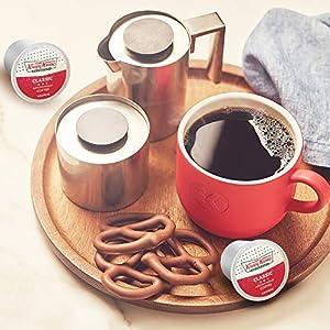 Krispy Kreme Classic, Single-Serve Keurig K-Cup Pods, Medium Roast Coffee, 0.33 Ounce (Pack of 48)
