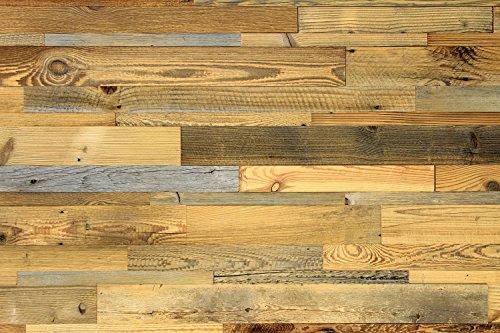 wodewa Wandverkleidung aus Holz Altholz sonnenverbrannt 1m² Echtholz Wandpaneele Holzwand