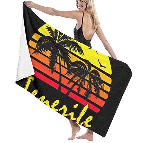 MasakoJMassie Tenerife Vintage Sun The Towel Toalla Unisex Ligero Quicky Dry Microfibra Toallas de Ducha Toalla de Playa