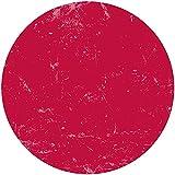 Deco&Fun - Alfombra Vinílica Redonda Lisa roja 100x100cm - Alfombra PVC Alfombra vinílica Cocina- Alfombra vinílica salón - Alfombras de Vinilo- Alfombra Redonda