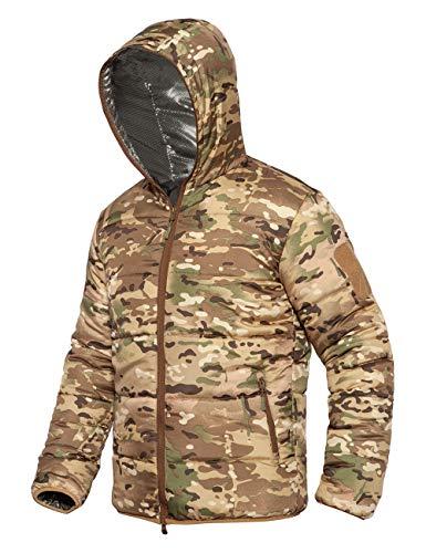 YFNT Cappotto in Cotone Mimetico, Giacca Manica Lunga Felpa con Cappuccio Cappotti Caldo Ultraleggeri Giacca Imbottita