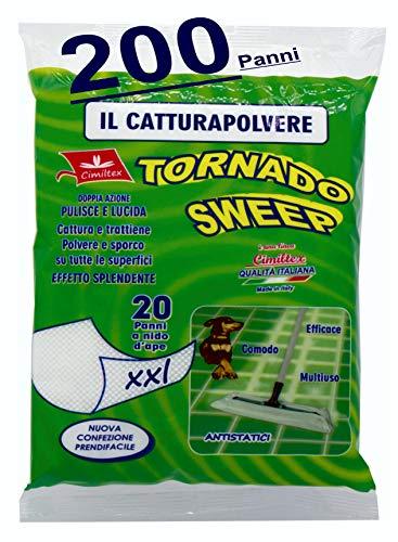 200 Panni cattura polvere tornado sweep XXL - ( Kit 10 x 20 = 200 ) CIMILTEX.