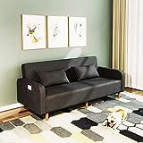 N/Z Home Equipment Klappsofas Bett Futon Schlafsofas Rückenlehne Verstellbar 3 Gänge Multifunktionale Loveseat Sofas Sitzmöbel für Wohnung Wohnzimmer dunkelgrün 1,25M