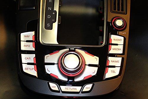MMI Aufkleber Alu-matt RS4 Design A4 / S4 8K A5 / S5 8T Q5 mmi 2G und 3G