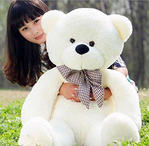 B-Creative Oso de peluche grande gigante osos de peluche juguetes de peluche grandes y suaves para niños Reino Unido Stock blanco 100 cm