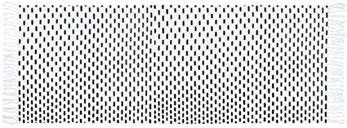 Gelco Design 710532 Tapis de Bain, Coton, Blanc/Noir, 120 x 45 x 0,25cm