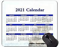 2021年のカレンダーマウスパッド、休日、石の宗教スピリチュアリティマウスパッド