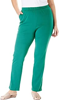 Woman Within Plus Size 7-Day Knit Straight Leg Pant