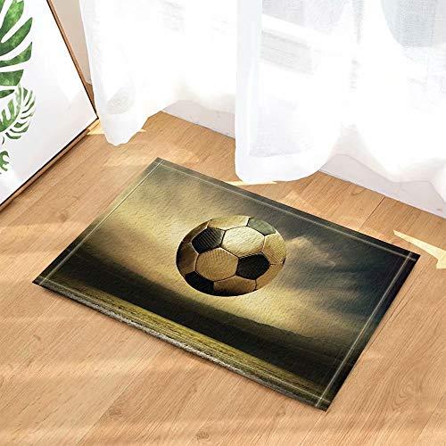 Sportdecoratie die gouden voetbal vliegen Kinderbadkamer tapijt toiletdeur mat woonkamer 40X60CM badkameraccessoires