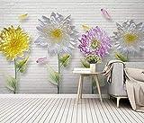 Mur De Fond En Relief De Fleurs Colorées 3D Fond D'Écran Hd Hd Home Decor Salon...