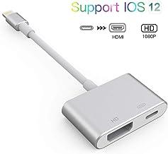 QuickLand Adaptador HDMI 1080P HD Adaptador AV Digital para teléfono XR/XS / 8/8 Plus / 7/6 / 5s / 5c / 5 / se, Pad Pro, Pad Air, Mini