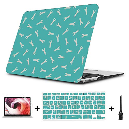 Macbook Pro 2017 Case Fashion Cartoon Cute Tool Wrench Plastic Hard Shell Compatible Mac Air 11' Pro 13' 15' A1707 Macbook Pro Case Protection For Macbook 2016-2019 Version