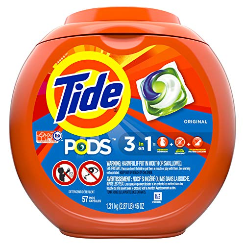Tide PODS Original Scent Laundry Detergent Pacs - 57 ct