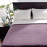 Berkshire Blanket VelvetLoft Blanket | Honeycomb Sherpa Reversible Plush Blanket | Ultra Soft Cozy Bed Blanket | Heavyweight Warmth | Lavender | Twin (60' x 90')