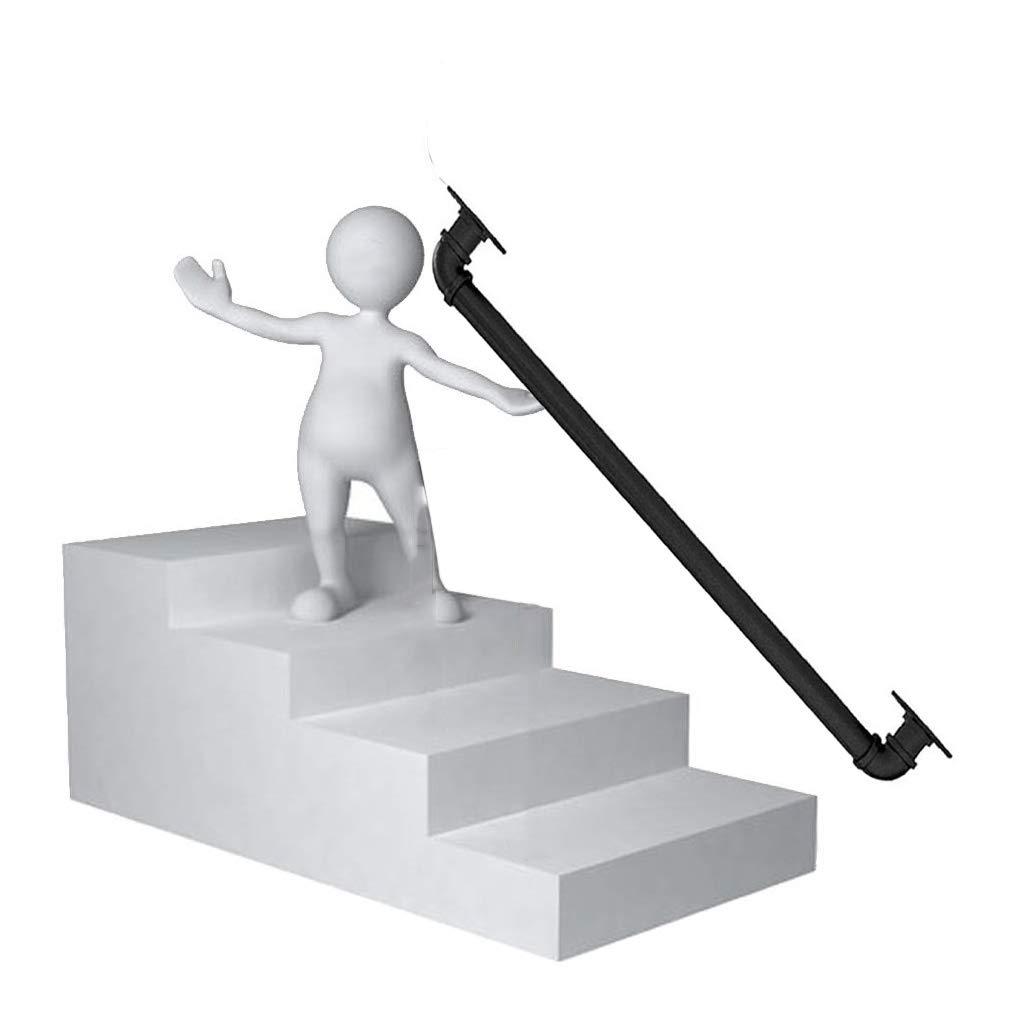 Hierro Forjado Barandilla, 1~4 pies Cumple Antideslizante de la Huella de la Escalera Pasamanos Pasamanos Escaleras Kit, Caja Carril de la Ayuda for el Interior y Exterior Usado (Size : 60cm): Amazon.es: