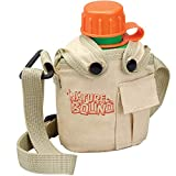 Water Hydration Canteen for Little Kids with Handy Pocket, Adjustable Strap, Snap On Canvas Cover, 16 Ounce...