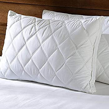 Home Style India Standard Size Polyester Hypoallergenic Pillow Protector Cover (White) Pack of -2