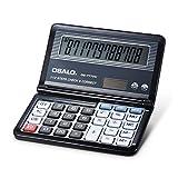 Manfore Calculadora de escritorio grande, Solar& Battery Powered Flip Calculadora con pantalla de 12 dígitos para el hogar, oficina, negocios, escuela, matemáticas
