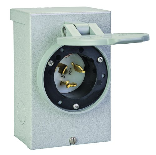 Reliance Controls PB50 50-Amp (CS6375) NEMA 3R Power Inlet Box,Gray