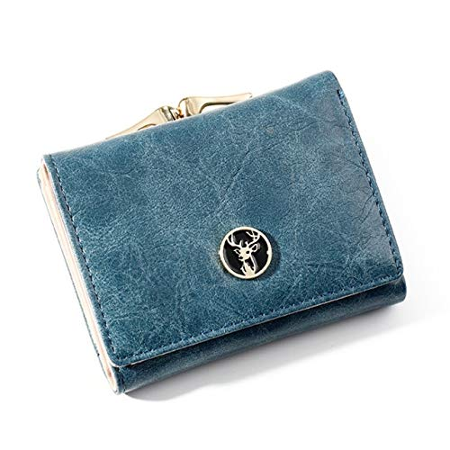 Women's Wallet Short Women Coin Purse Fashion Wallets For Woman Card Holder Small Ladies Wallet Female Hasp Mini Clutch For Girl-WW08226BL