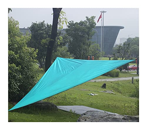 KLZOLR Toldo Vela De Sombra Solar Jardín Patio Triángulo Azul Terraza Lonas para Pergolas Impermeable,Tamaño Personalizado (Size : 6x6x6m)