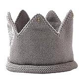 Ruluti Los niños Unisex del bebé recién Nacido Sombrero de acrílico Corona de Punto Venda del Sombrero Venda de los Accesorios para Niños Niñas