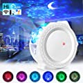 Star Projector Night Light, 3 in 1 Ocean Wave Galaxy Projector, Sky Lite with Moon, Music Sensor-Time Setting-Smart WiFi Control(Alexa/Google/APP), for Children Parties Bedrooms Dance Floor Decoration
